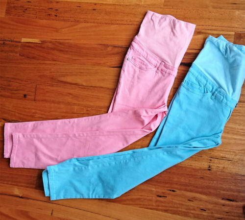 New Ladies Ripe Maternity Crop Pants Baby Pink or Light Blue Size XS Only