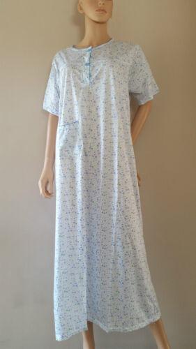 Ladies Short Sleeve NightDress Nightie Pyjamas Floral PJ Size 12-22