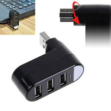 Mini 3 PORT USB 2.0 Rotate HUB Adapter For PC Desktop Notebook Expansion*