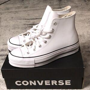converse white leather platform