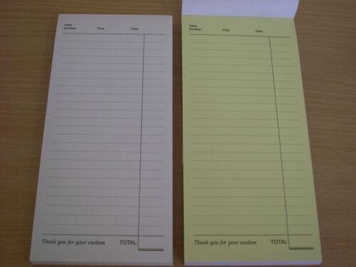 20 x DL DUPLICATE NCR LINED RESTAURANT//BAR ORDER PADS