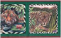 Zebra Lion And Tiger In Frames Wild Animals Jungle Wallpaper Border Wall Decor