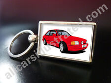 FORD ESCORT XR3i KEY RING. CHOOSE YOUR CAR COLOUR.