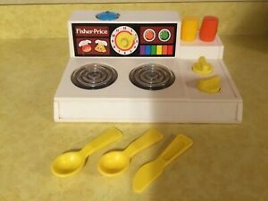 Details About 1978 Fisher Price Play Kitchen Magic Stove Top With Glowing Burners Cc96