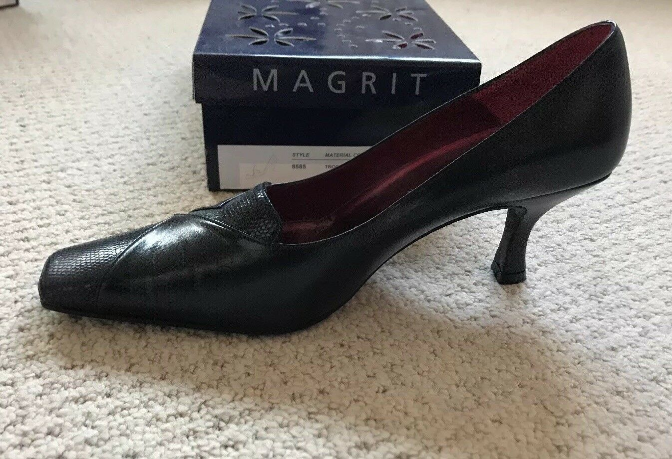 Gentlemen/Ladies Magrit Black Leather Court 40 () wholesale Modern Fashion design Fashion Modern dynamic 389ebc
