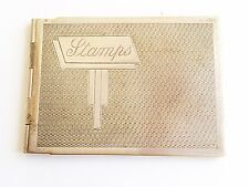 Rare Vintage Art Deco Silver Plated hinged Stamp Book Holder/Case 1930s