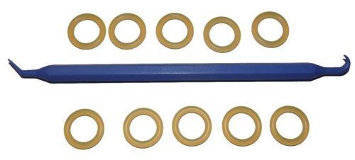 Lot de 10-Petit DIN Régulateur//valve polyuréthane 111 O-Ring /& BONUS O-Ring Pick