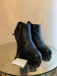 69e59b2eb91 Details about WOMENS COACH PAULINE BLACK LEATHER ZIP ANKLE HEEL BOOTS  BOOTIES SZ 8