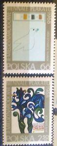 POLAND STAMPS MNH Fi1697-98 Sc1583-84 Mi1844-45 - Exhibition of poster, 1968, ** - Reda, Polska - POLAND STAMPS MNH Fi1697-98 Sc1583-84 Mi1844-45 - Exhibition of poster, 1968, ** - Reda, Polska
