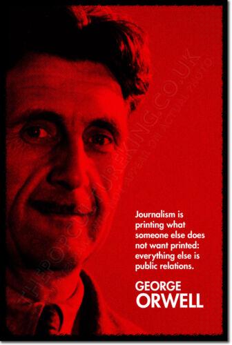 """George Orwell /""""rojo/"""" Arte citar Foto impresión de Cartel De Regalo Animal Farm 1984"""