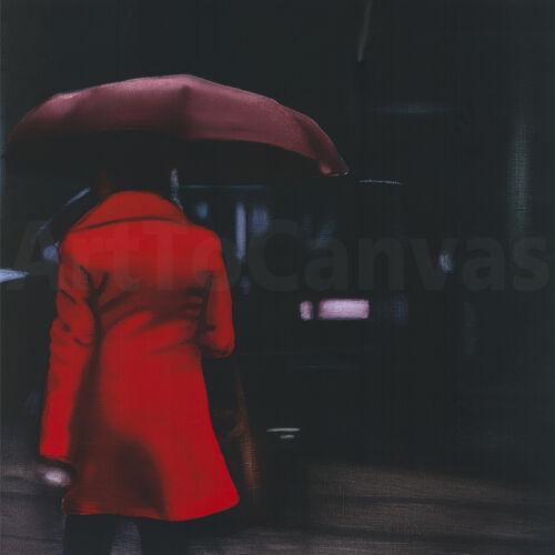 """36W/""""x36H/"""" LADY IN RED by XAVIER VISA DARK AUTUMN CANVAS"""