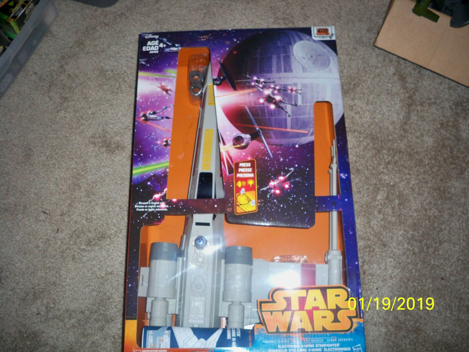 Huge Star Wars Xwing With Electronics sounds with opened box
