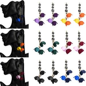 Fashion-Women-Acrylic-Flower-Resin-Alloy-Dangle-Drop-Ear-Stud-Earrings-Jewelry