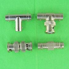 Set Of 4 Bnc Adapters 1 F F F Tee 1 M F F Tee 1 F F Coupler 1 M M Union