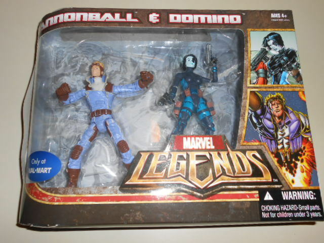 CANNONBALL & DOMINO ( WALMART ONLY ) VHTF ( 2007 ) MARVEL LEGENDS ACTION FIGURES