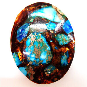 Sea-Sediment-Jasper-amp-Gold-Copper-Bornite-stone-Pendant-Bead-45-35-6mm
