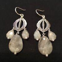 Silpada - W3288 - Sterling Silver - Flora Earrings -