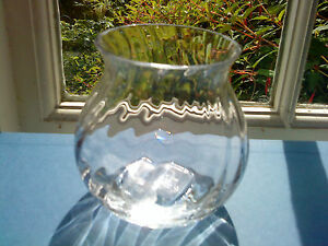 "Pottery, Porcelain & Glass Glass Hot Sale Dartington Clear ""swirl"" Posy Vase 9cm Tall"