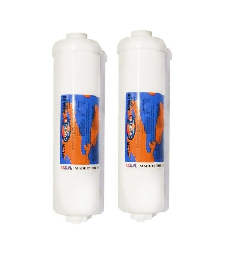 2X Omnipure K5566 Fluoride Removal Inline Filter Replacement Cartridge