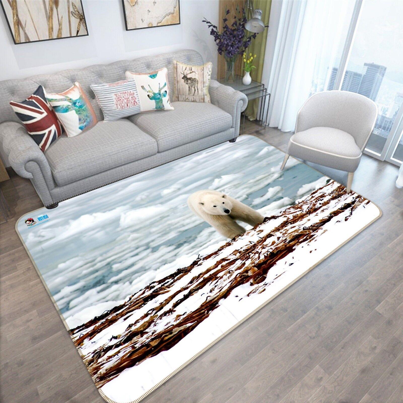 Ghiacciaio 3D Orso 455 tappetino antiscivolo tappeto camera Tappetino Qualità Elegante foto Tappeto UK
