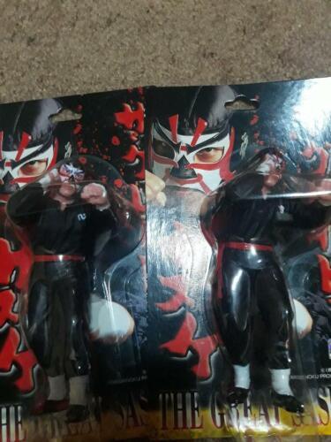 CharaPro Japanese Wrestling Great Sasuke Silver Mask Hasbro New Japan