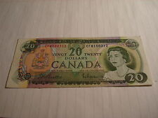 1969 - Canada $20 bill - Canadian twenty dollar note - EF8150212