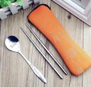 Kpop BTS Chopsticks Stainless Steel Reusable Chopsticks & Spoon Set [US Seller]
