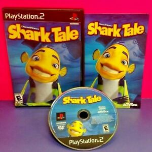 Shark-Tale-Dreamworks-PS2-Playstation-2-COMPLETE-Game-1-Owner-Near-Mint-Disc