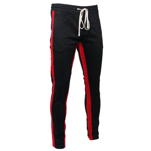 Men/'s Kayden.K Long Drawstring Stretch Twill Stripe Ankle Zip Skinny Pants