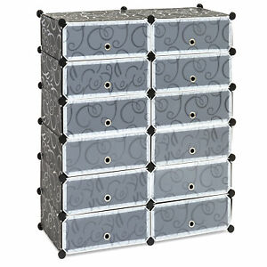 Image is loading Best-Choice-Products-12-Cube-Shoe-Storage-Cabinet-  sc 1 st  eBay & Best Choice Products 12 Cube Shoe Storage Cabinet Organizer DIY Shoe ...