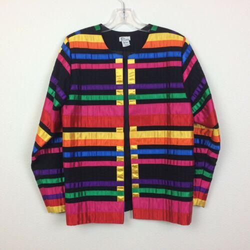 Tachi Castillo Vintage Rainbow Ribbon Lined Jacket
