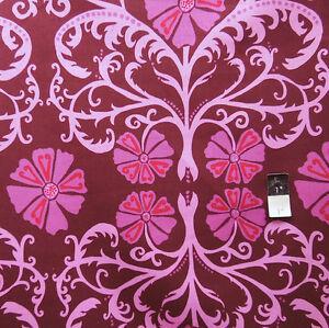 Valori-Well-LVW03-Jenaveve-Tribal-Floral-Merlot-Linen-Blend-Fabric-By-The-Bolt