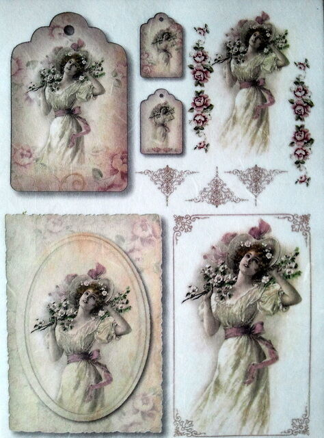 RICE DECOUPAGE PAPER  / LADY / CRAFT PAPER / DECOUPAGE SHEETS / SCRAPBOOKING