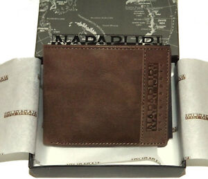 Portafoglio Uomo Marrone Scuro Napapijri Wallet Men Dark Brown N6Z05