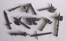 Custom Blacksmith FORGE KIT For Lego Minifigures Castle LOTR -Anvil + Weapons!