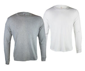 EX-MARKS-AND-SPENCER-MENS-LONG-SLEEVE-GREY-OR-WHITE-THERMAL-TOP-SIZE-S-XL