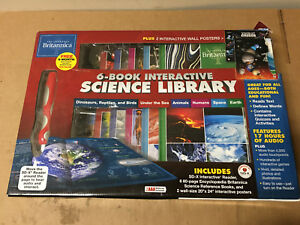 Encyclopedia-Britannica-6-Book-Interactive-Science-Library-SHELF-PULL