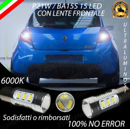 COPPIA LAMPADE RETROMARCIA 15 LED P21W CANBUS RENAULT CLIO MK3 6000K