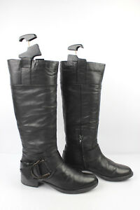 Details about Boots CARMENS Freeflex Black Leather T 38 VERY GOOD CONDITION