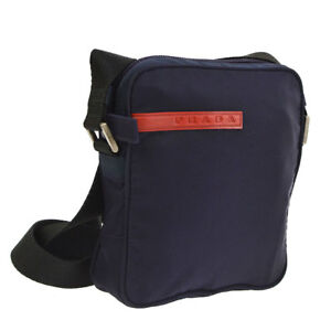 a6788a542794 Auth PRADA Sports Cross Body Shoulder Bag PRUGNA Navy NYLON SPORT ...