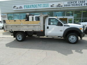 2015 Ford F 550 DIESEL 2WD  WITH 12 FT ALUMINUM DUMP BOX