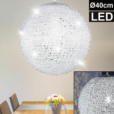 Design LED Pendel Leuchte Chrom Kugel Schlaf Zimmer Decken Hänge Beleuchtung