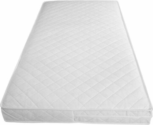 Cot Mattress Baby Junior Quilted Waterproof Breathable 120 X 60 X 13
