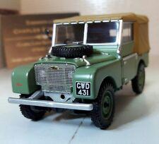 "1:43 Scale 1948 Land Rover Series 1 80"" Canvas Corgi Vanguards Diecast Model"