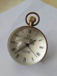 inch-Works-CHINESE-vintage-BRASS-GLASS-pocket-watch-BALL-clock