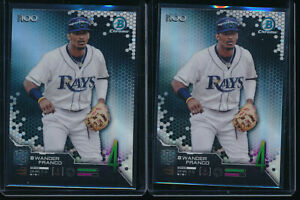 Lot-of-2-WANDER-FRANCO-2019-Bowman-Chrome-Top-100-Tampa-Bay-Rays-Rookie-RC-QTY