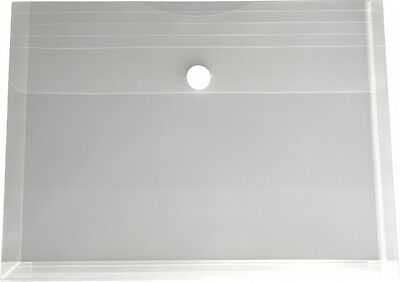 100x Dokumententaschen Umschläge Klettverschluss Abheftrand A5 farblos