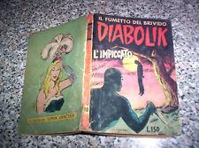 DIABOLIK PRIMA 1° SERIE ORIGINALE N.10 DEL 1963 INGOGLIA BUONO TIPO KRIMINAL