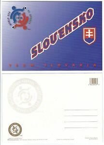 1996-World-Cup-of-Hockey-Tournament-Postcard-SLOVAKIA-Blue