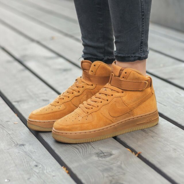 Nike Air Force 1 High Lv8 GS Wheat Flax Size UK 6 EUR 40 US 7y 807617 701